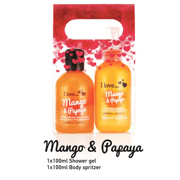 Mango and Papaya gift set